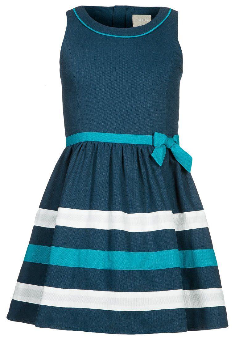 Vestiti Eleganti Bambina Zalando.Name It Madeline Vestito Elegante Blu Zalando It Abiti Da