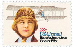 1980 28c Blanche Stuart Airmail Scott C99 Mint F/VF NH www.saratogatrading.com