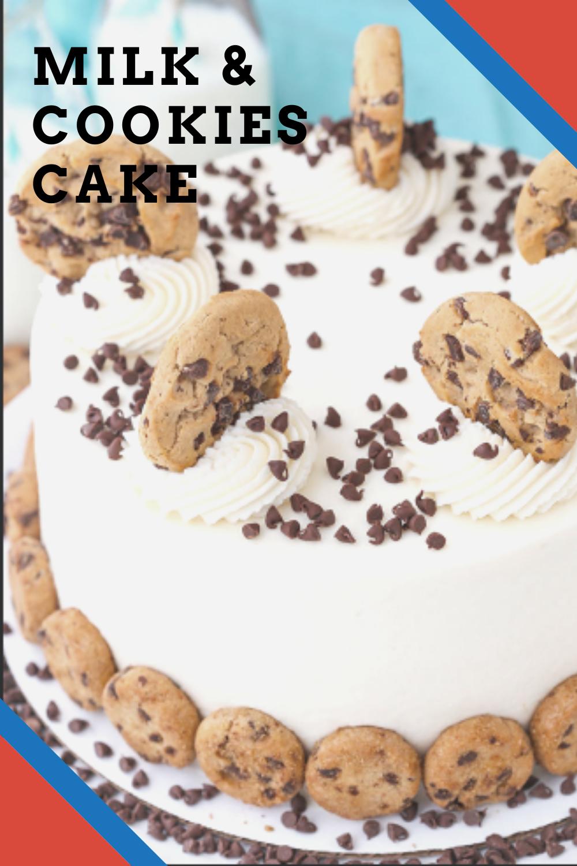 Milk & Cookies Cake in 2020   Cake recipes, Banana mug ...