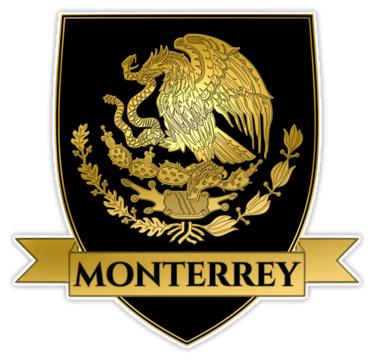 Black Monterrey Crest Escudo De Monterrey Sticker By Rebeldeshirts Mexico Tattoo Mexico Flag Black Chihuahua