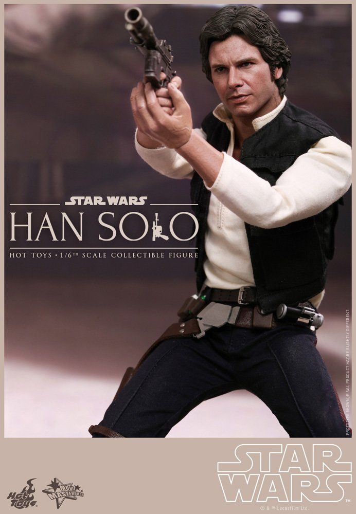 Amazon.com: Movie Masterpiece Star Wars Episode 4 / A New Hope Han Solo 1/6 scale plastic-painted action figure: Toys & Games