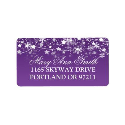 Star Light Strand Rustic Blue MATTE Personalized Return Address Label