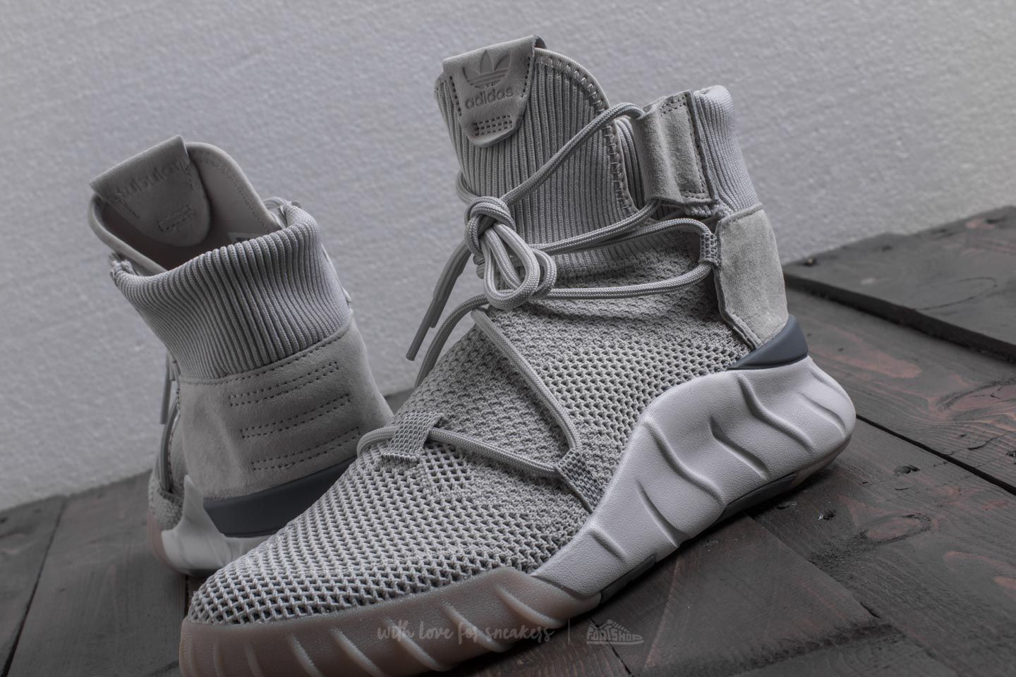 2f6c1fceba2f adidas Tubular X 2.0 Primeknit Grey One  Grey Three  Crystal White at a  great price 135 € buy at Footshop