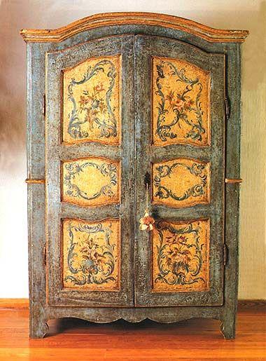 Muebles pintados italianos muebles antiguos y de estilo for Muebles estilo italiano
