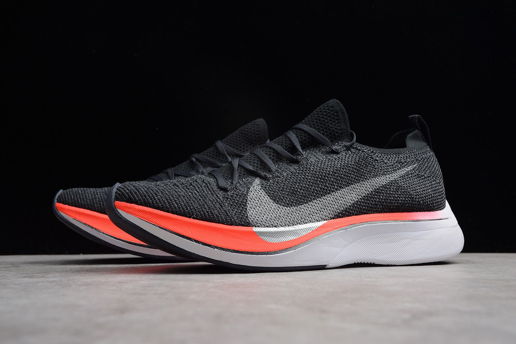 295c02ddeca4c Nike Vaporfly 4% Flyknit Blue Fox Black-Bright Crimson AJ3857-400 in ...