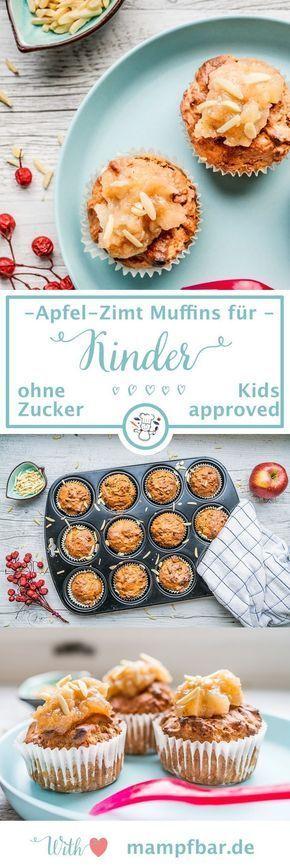 Kids approved: gesunde Apfelmuffins mit Zimt