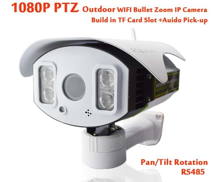 Wifi Ip Ptz Camera Outdoor 1080p Tf Card Slot 4x Zoom Lens 2 8 12mm Megapixel Audio Pick Up Infrared Bullet Wireless Cc Wireless Ip Camera Ip Camera Ptz Camera