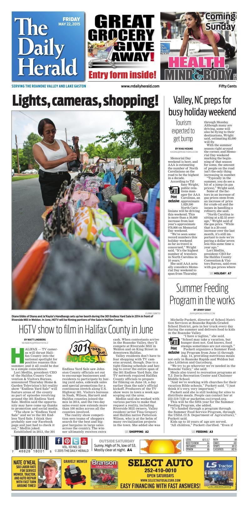 The Daily Herald Roanoke Rapids Nc Front Page For