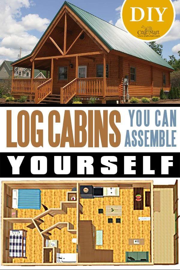 Tiny Log Cabin Kits Easy Diy Project Craft Mart Tiny Log Cabins Diy Log Cabin Log Cabin Kits