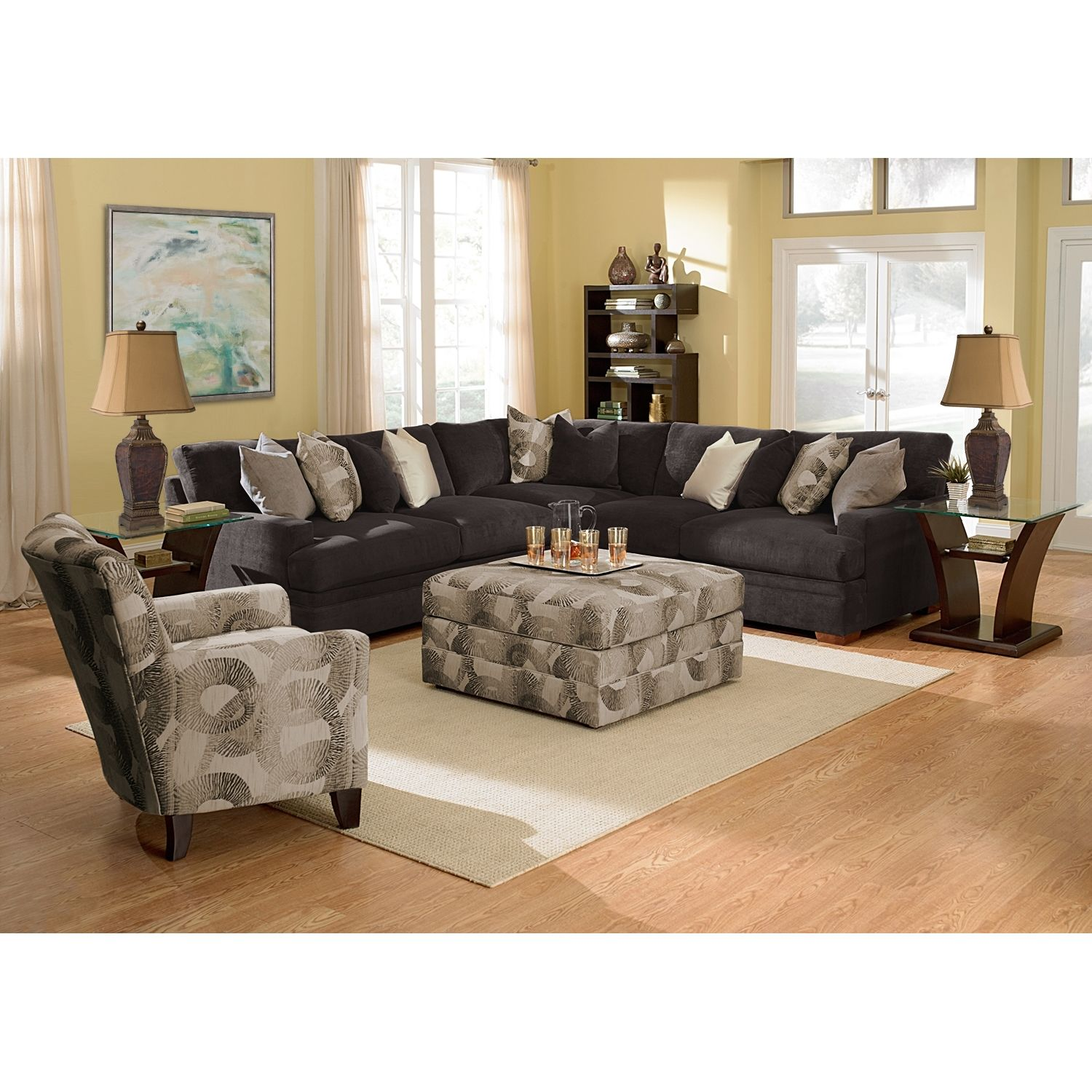 Altavista Upholstery 3 Pc Sectional Value City Furniture