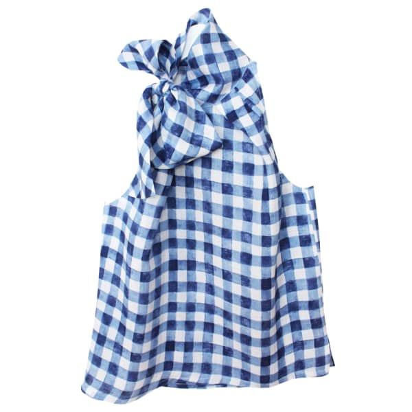 f02a8a76d223b Blue Gingham Bow Blouse (L)