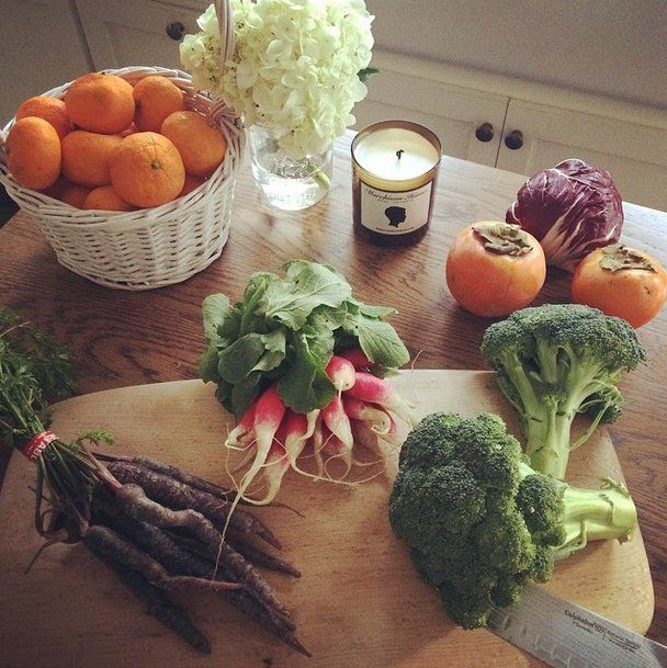 Pin for Later: Let These Celebrities Inspire Your Next Workout Session  Lea Michele gets fresh-produce deliveries from Good Eggs so that she always has healthy meal ingredients.