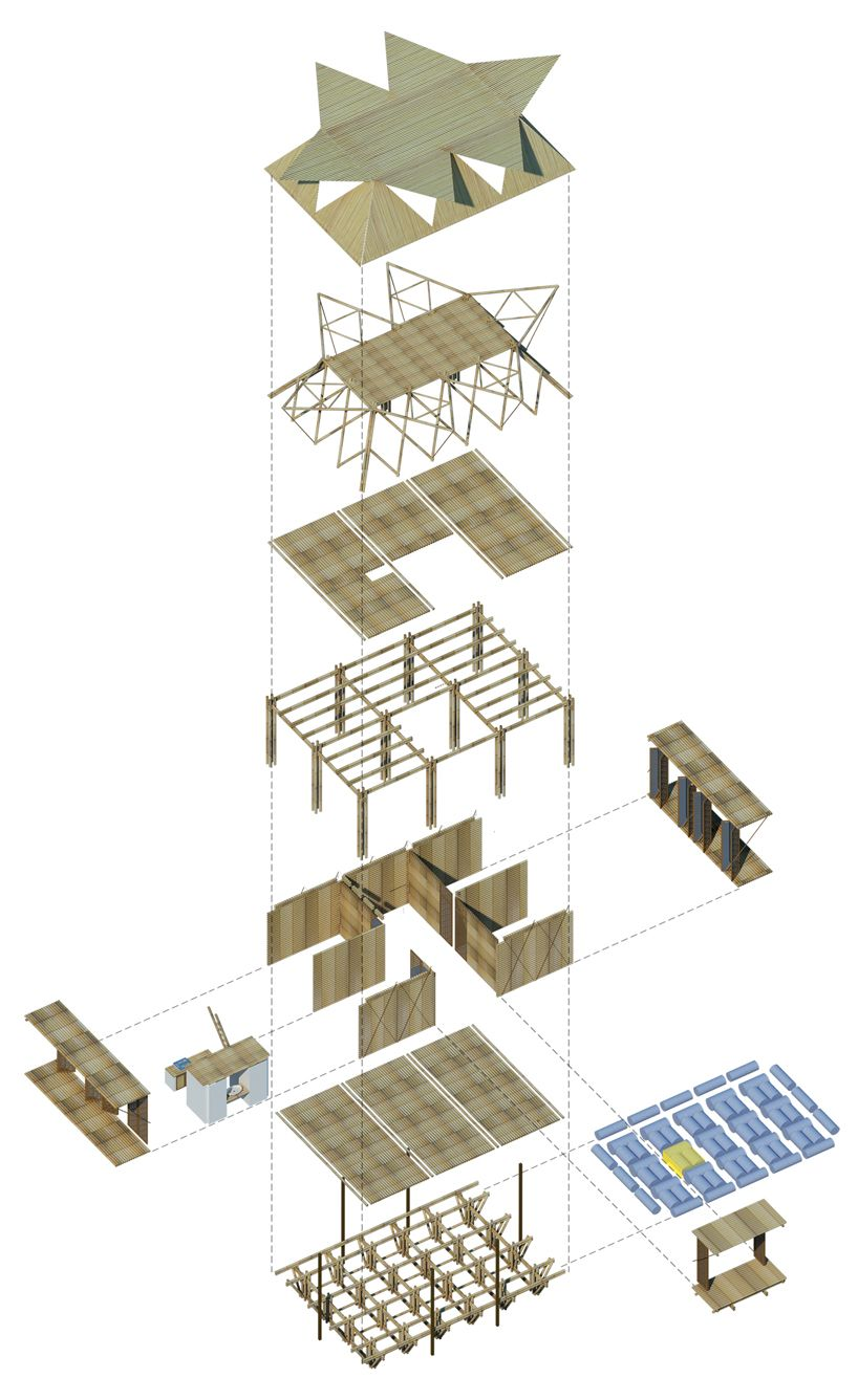 Low Cost Bamboo Housing In Vietnam By H P Architects Bamboo House Low Cost Housing Bamboo Architecture