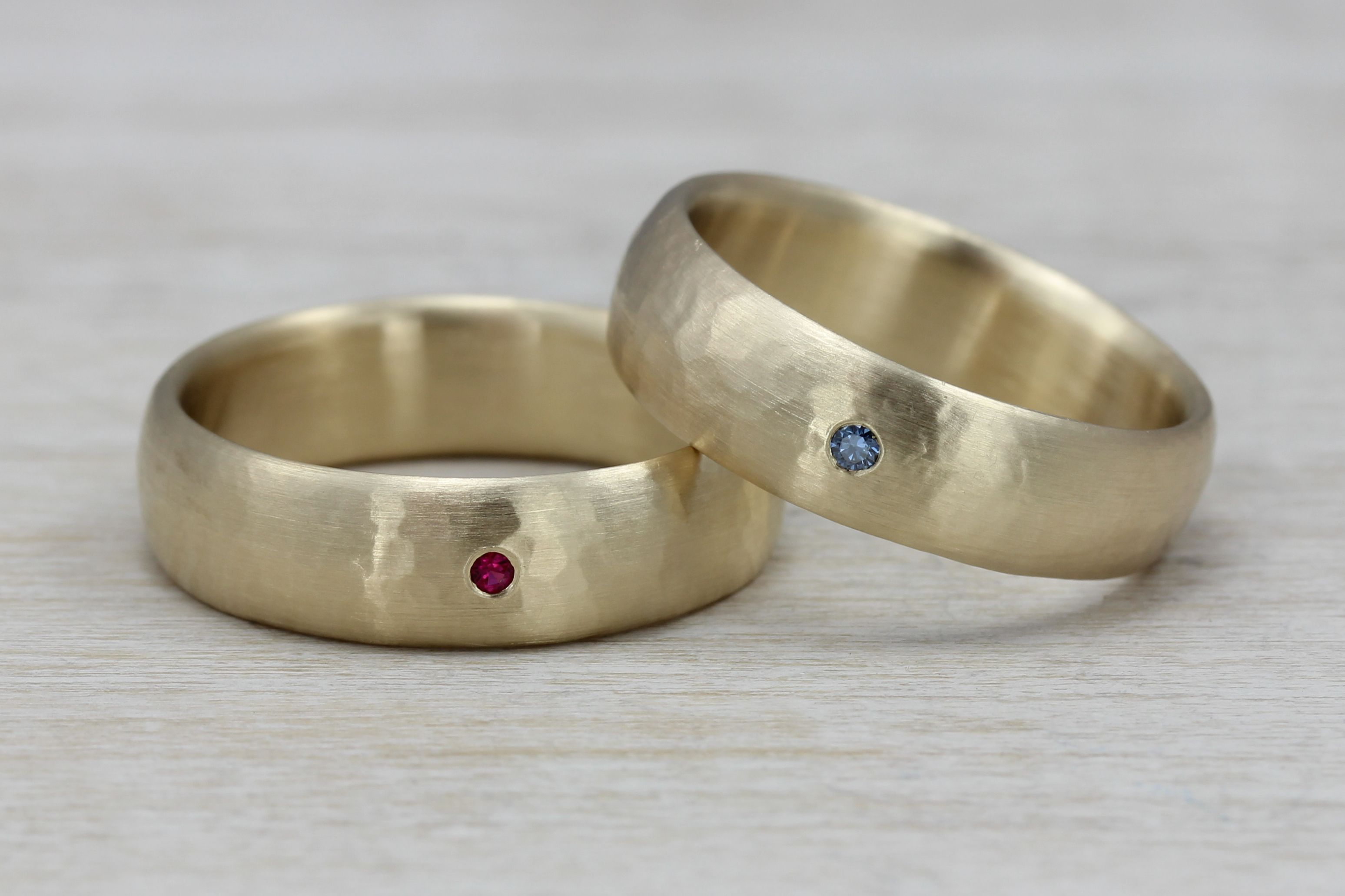 A Set Of Men S Wedding Bands Both Pictured In 6mm Width
