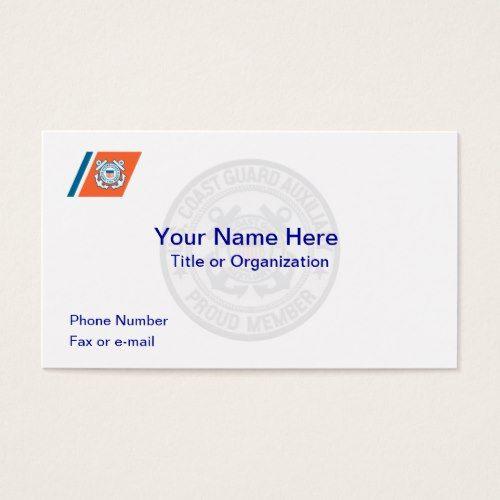 Coast guard auxiliary business card coast guard auxiliary and coast guard auxiliary business card colourmoves