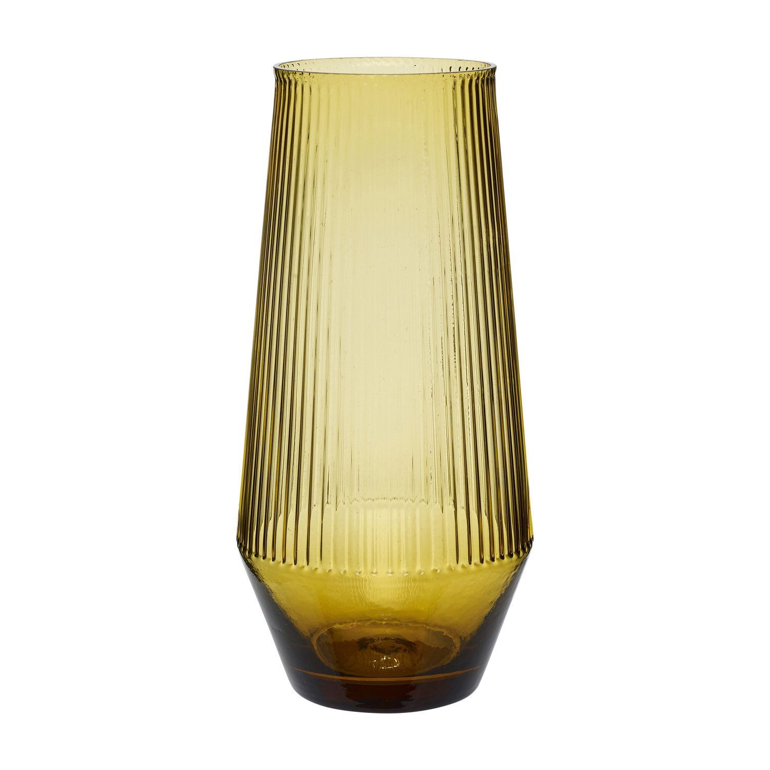 Tall Amber Sculpted Glass Vase Object Style Glass Vase Glass Amber Glass