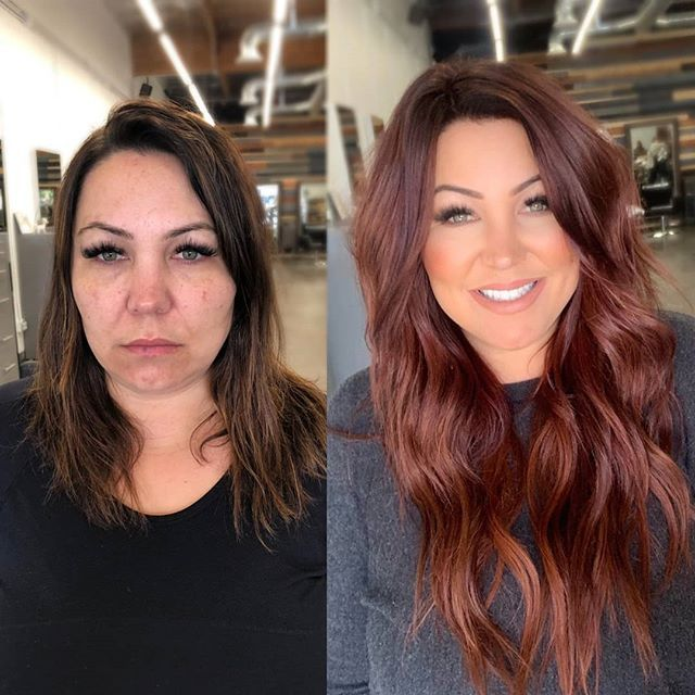 Well I may or may not feel like a poser with this red hair...buuuuut if you want to see this 14 (yes I said 14) hour transformation go… #fallhaircolors