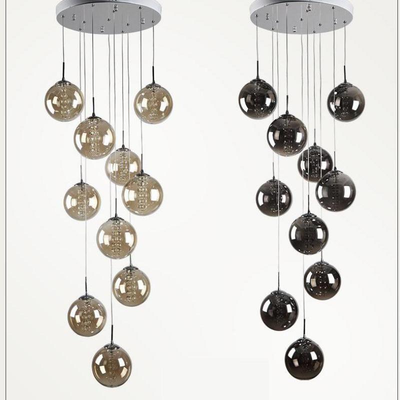 Best 1 5 2M Staircase Smoke Black Spiral Pendant Lamps Modern 400 x 300