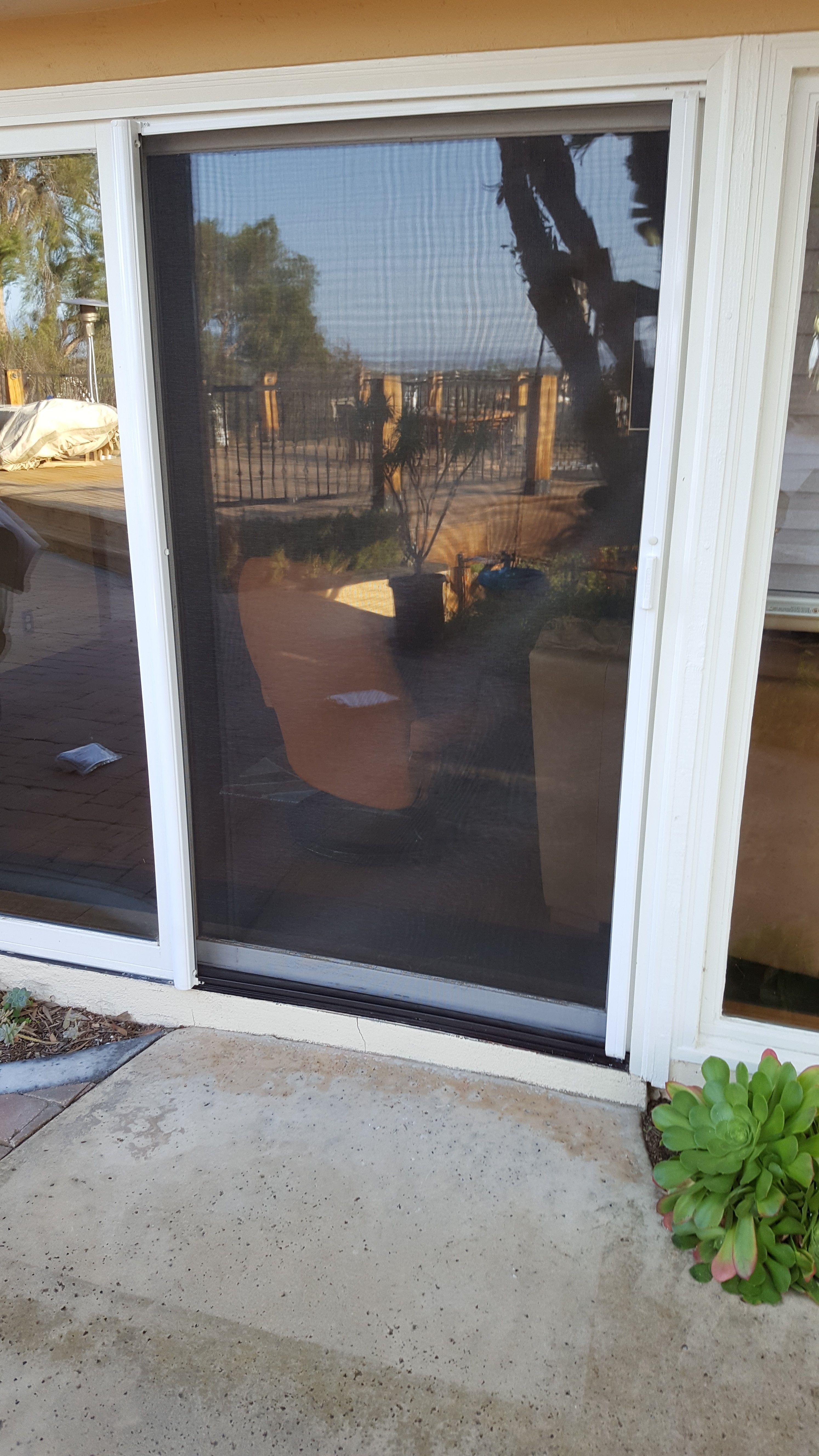 Glass Sliding Door With Our Clearview Screen Door Retractable Screen Sliding Glass Door Retractable Screen Door