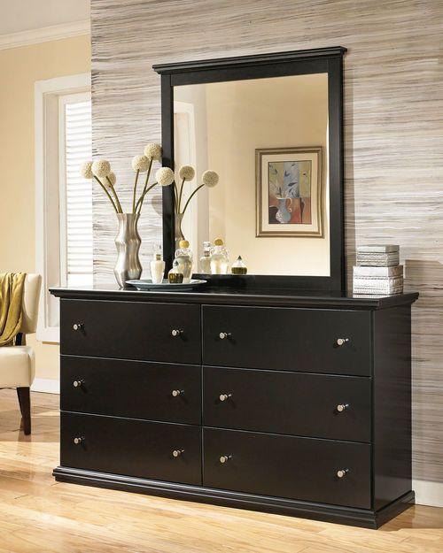 Best Maribel Black Dresser Mirror Shabby Chic Dresser 400 x 300