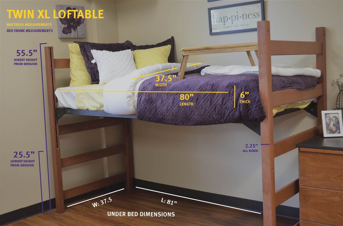 Measurements For A Twin Xl Loftable Bed Move In Day In