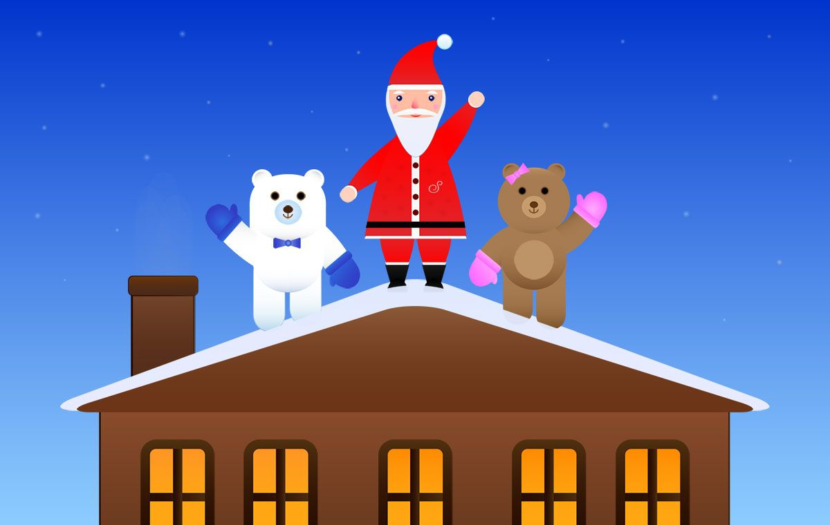 How many days until Christmas? The Two Happy Bears will tell you.   Days until christmas ...