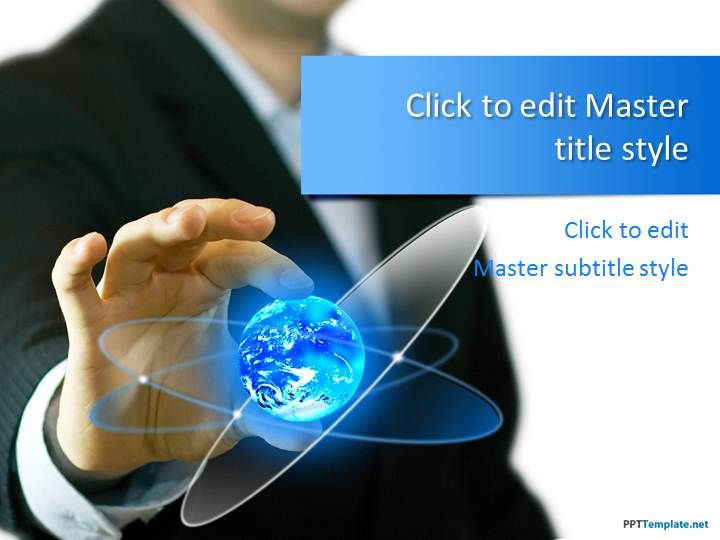 Free Global Business PPT Template | Technology background ...