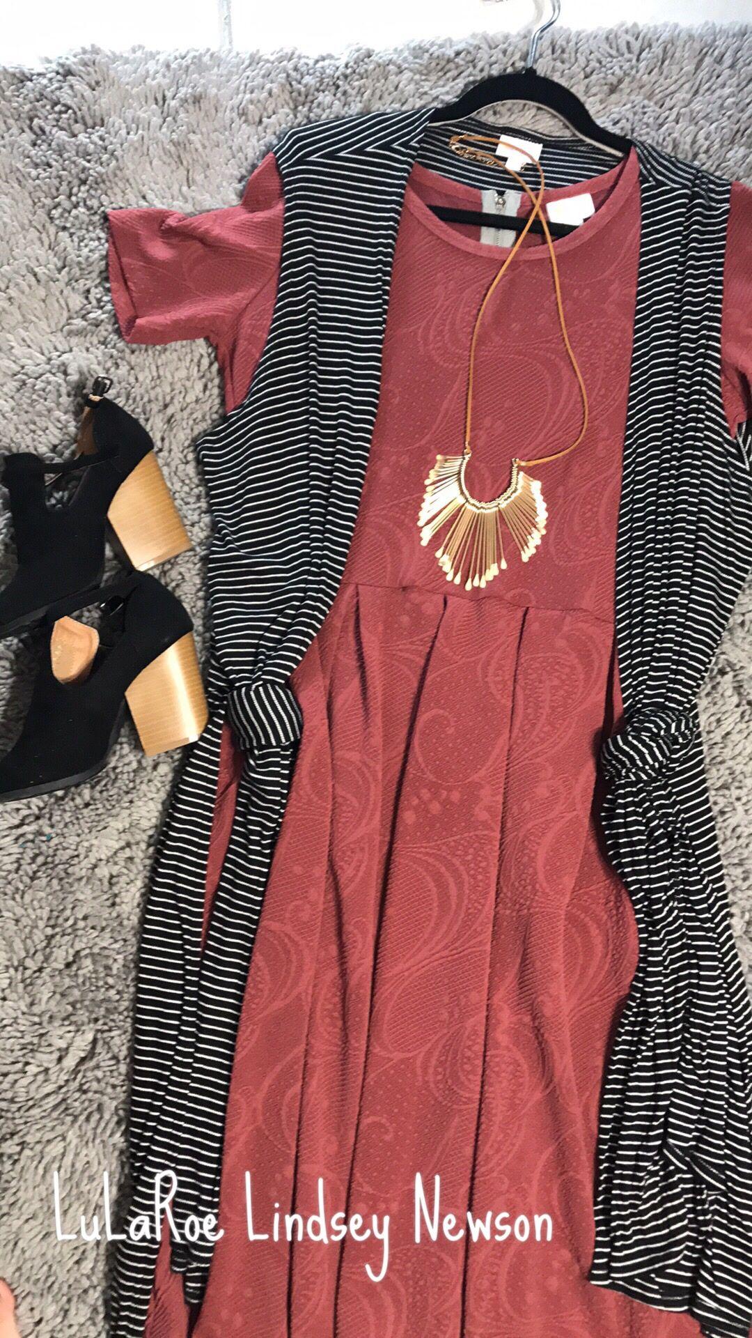 e07def83155c0 LuLaRoe Amelia and Joy vest. Stripes. Dusty Rose. Elegant and classic.  Women s dress. style.