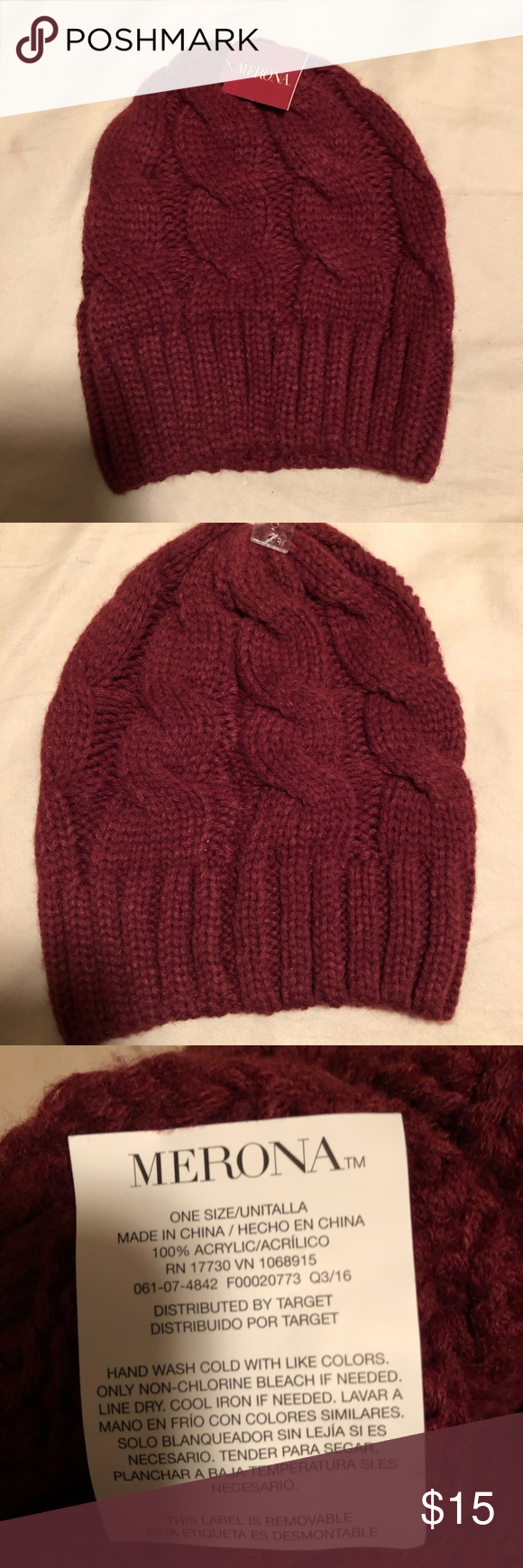 4974978f89a Target Maroon Beanie This soft red beanie is new and has never been worn!  It s one size and comes from a smoke free home. Merona Accessories Hats