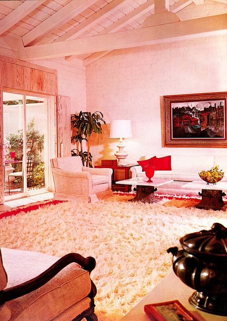 Colorful Retro Style Living Room Model - Living Room Designs ...