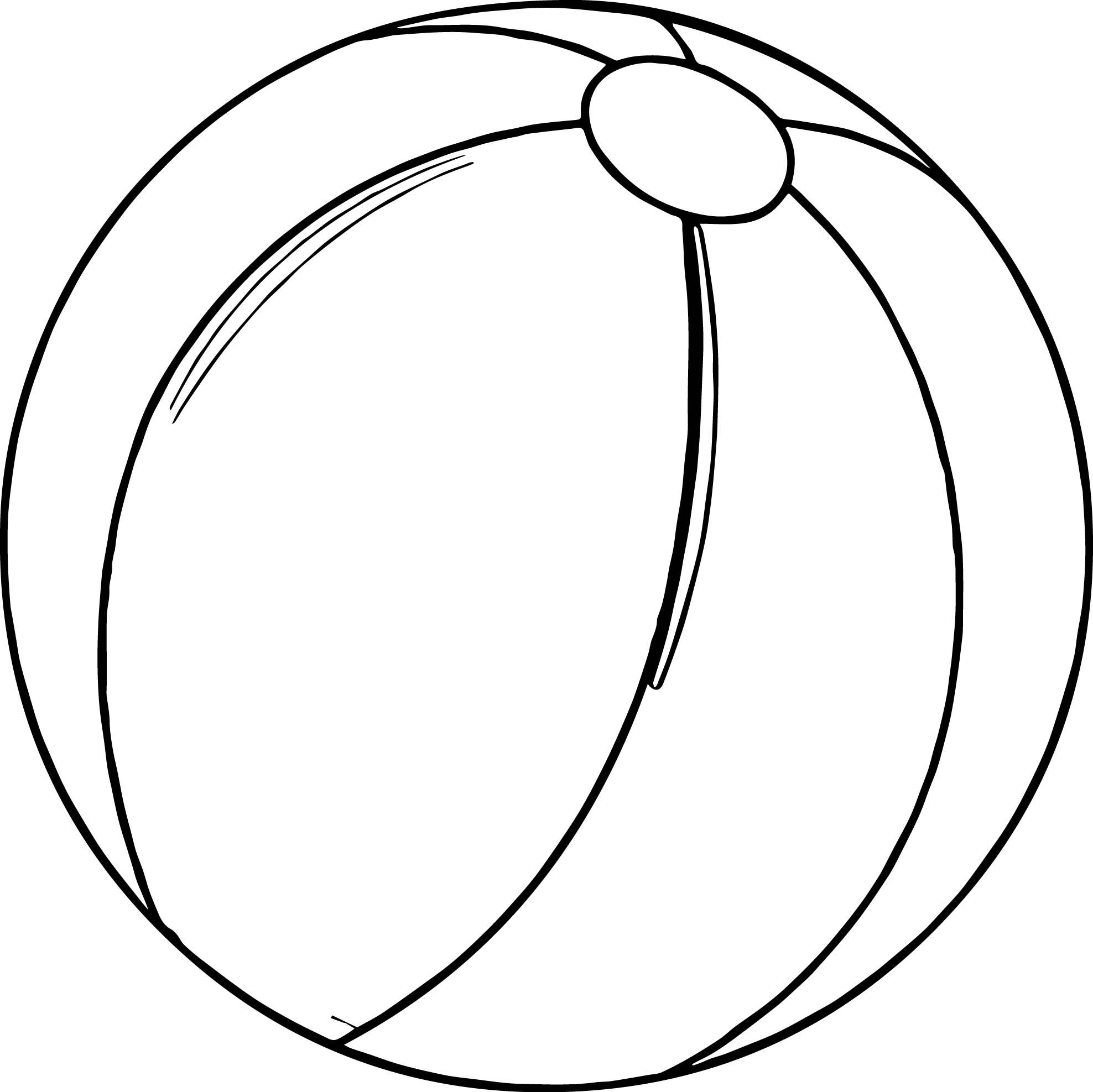 Awesome Summer Beach Ball Coloring Page