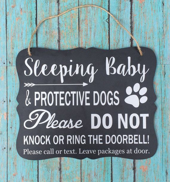 Sleeping Baby Protective Dog Door Hangersign Baby Gift Do Not