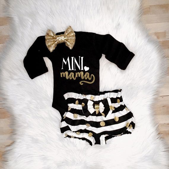 Mini Mama Although I D Spell It Momma Baby Elit Baby Girl Fashion Baby Baby Time