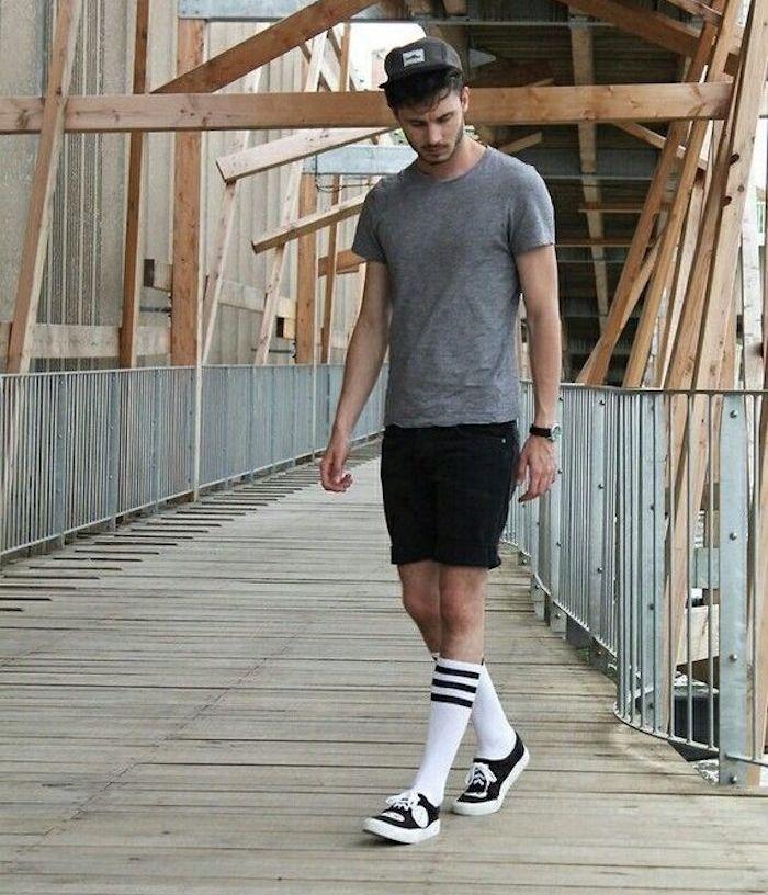 Connu Comment porter la chaussette haute pour homme | Chaussettes hautes  QG02