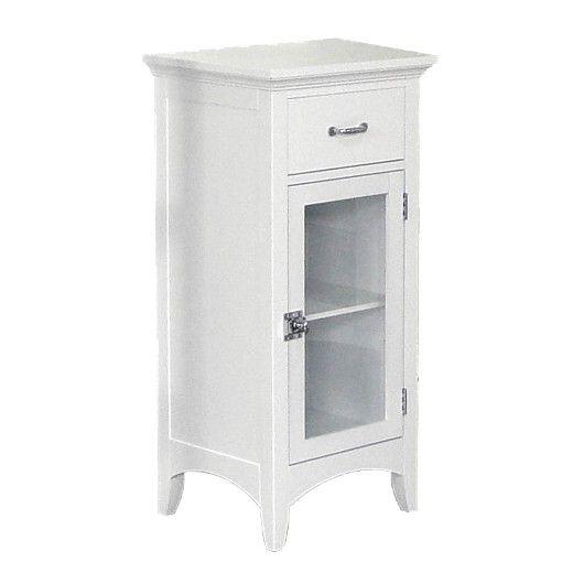 elegant home fashions madison avenue floor cabinet - white