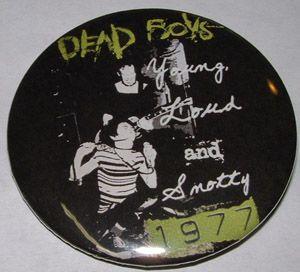 Dead Boys ''Young'' 2-inch Mega Button $1.65 #punk #music #buttons #accessories www.drstrange.com