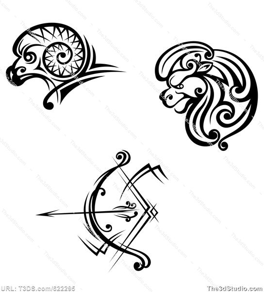 d40570184a246 Sagittarius tattoo design - Royalty-free stock photo image available at  www.The3dStudio.com, the oldest and largest 2D and 3D resource site on the  internet.