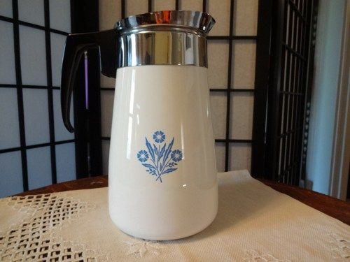 Vintage Corning Ware Cornflower Blue Nine Cup Stove Top Percolator | SelectionsBySusan - Kitchen & Serving on ArtFire