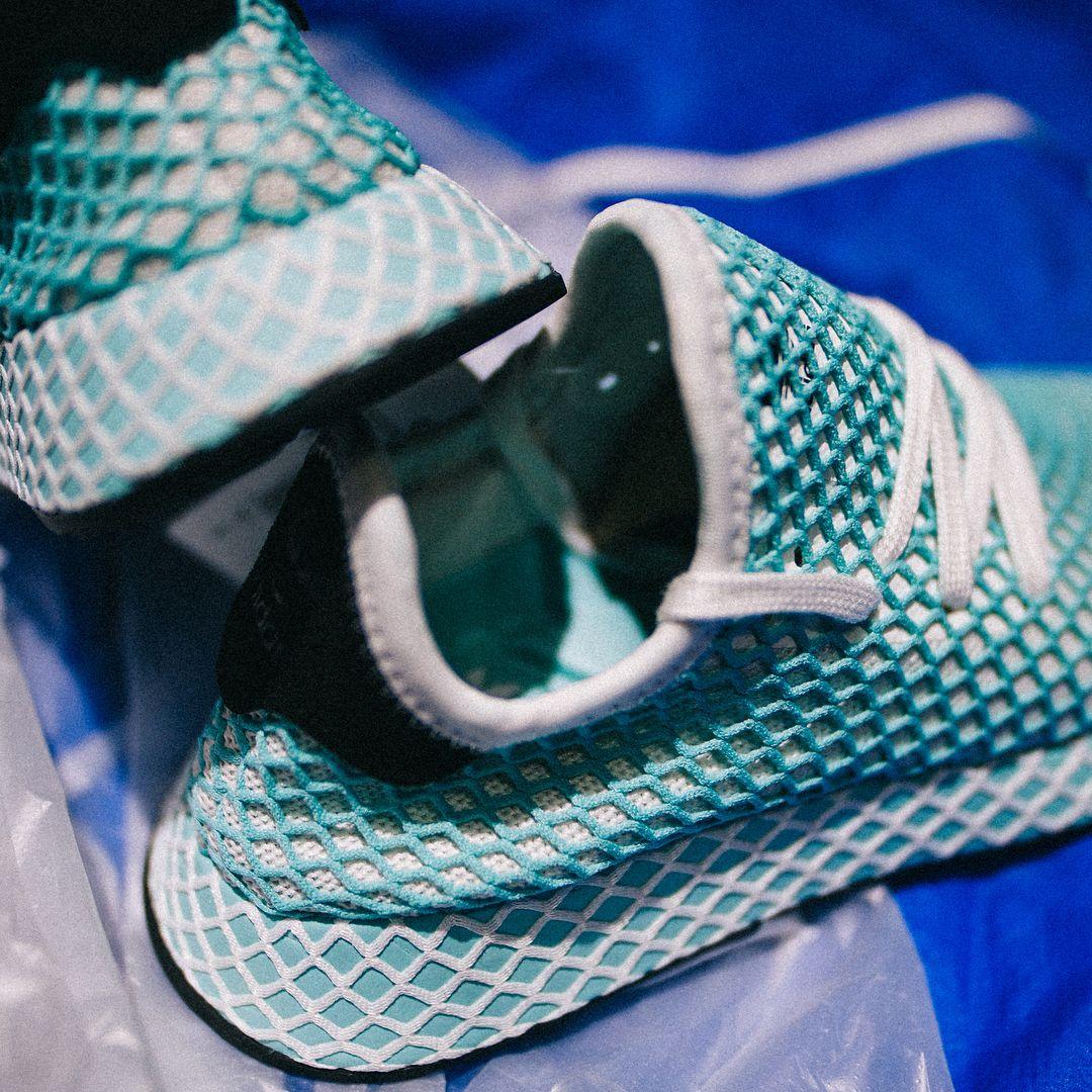 3919a0b08 adidas Deerupt Runner Parley Shoes - CQ2908 - ocean environment shoe -  details.