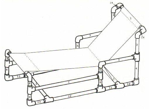 Furniture Recycle Pvc Pipe Furniture For Chaise Lounge Chair Plan