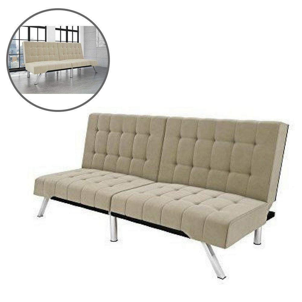 Sleeper sofa couch modern convertible bed mattress guest home