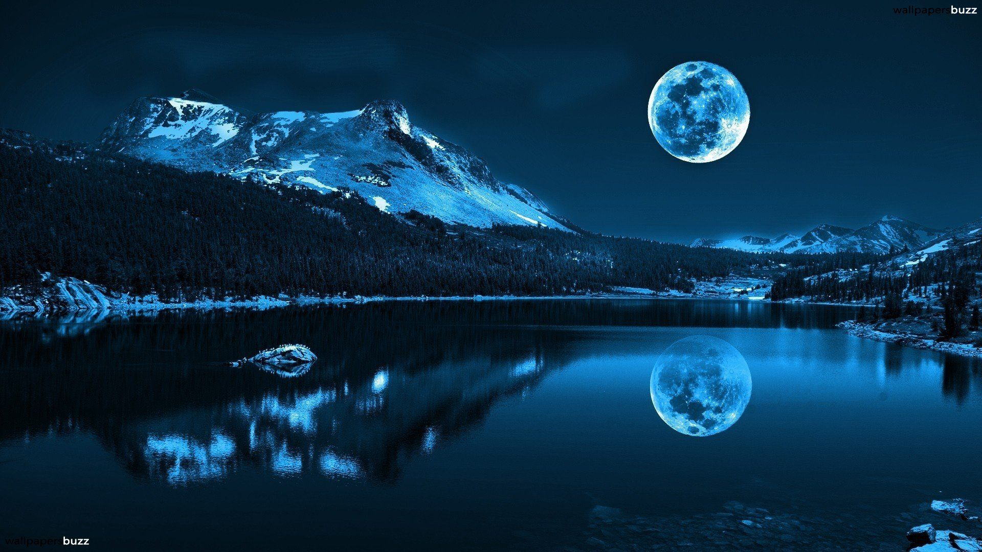 Image Result For Winter Night Landscape Photography Beautiful Moon Beautiful Nature Scenery
