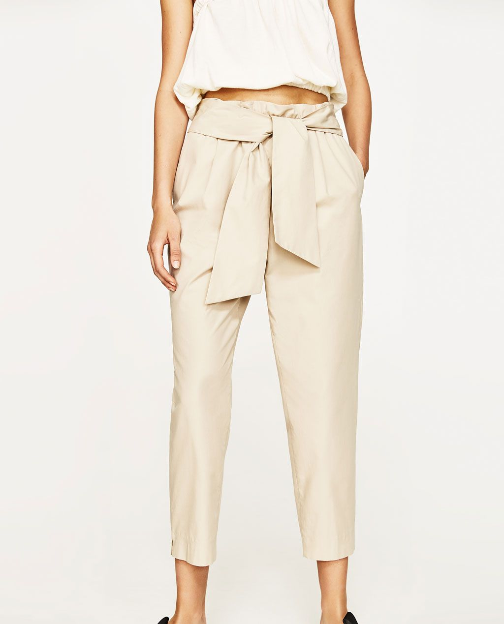 40c5dd32 TIE-WAIST PRINTED TROUSERS-NEW IN-WOMAN | ZARA United States ...