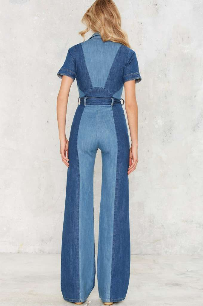 a3596cfa956d Stoned Immaculate Blue Jean Baby Denim Jumpsuit - Rompers + Jumpsuits