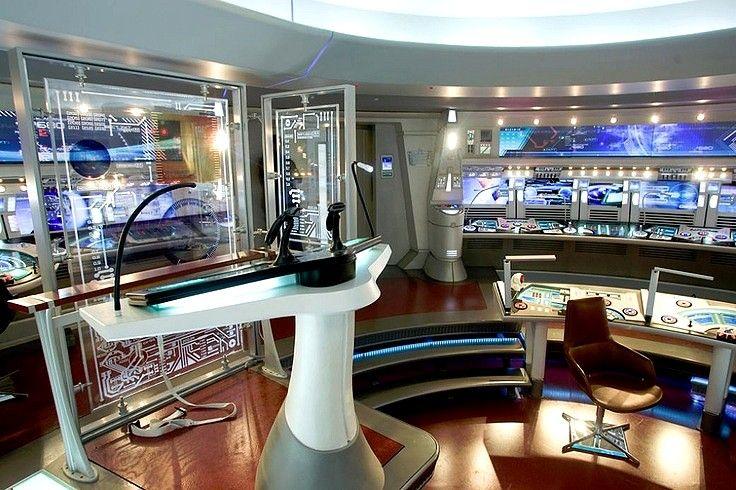 Enterprise Control Room (Bridge).  #startrek
