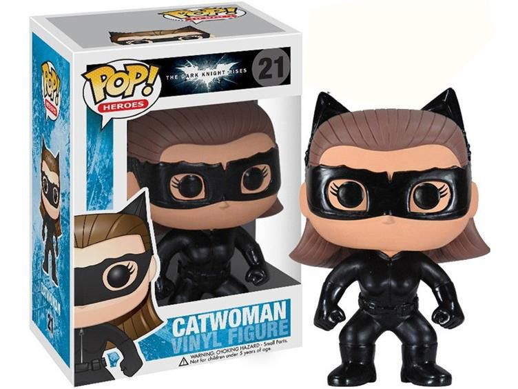Cabezón Batman The Dark Kinght Rises. Catwoman, 10 cms. Pop Heroes. Funko