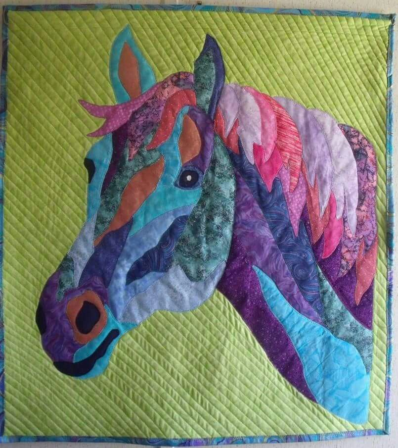 Horse Quilt Sewing Quilting Aint Easy Pinte