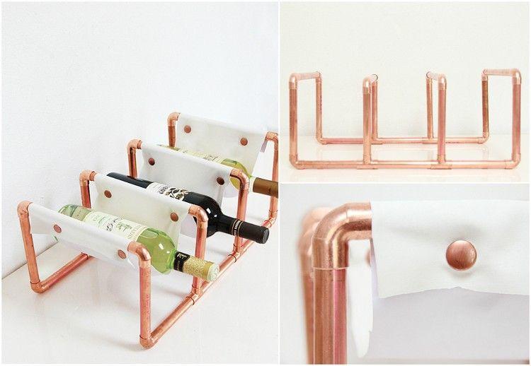 Porte bouteille original fait maison \u2013 idées créatives et fiches de - Bricolage A La Maison