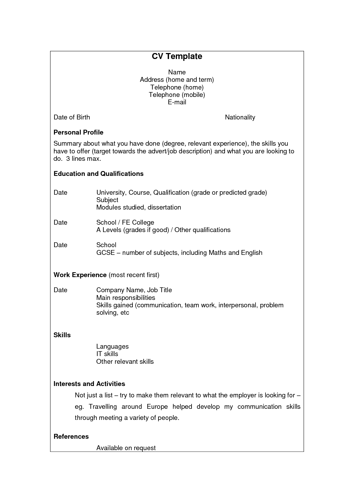 Resume English Name Application Letter For Teacher Chronological