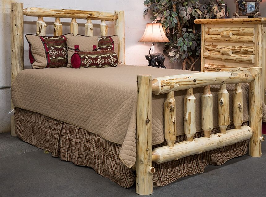 Fireside King Size Traditional Log Bed Dream furniture